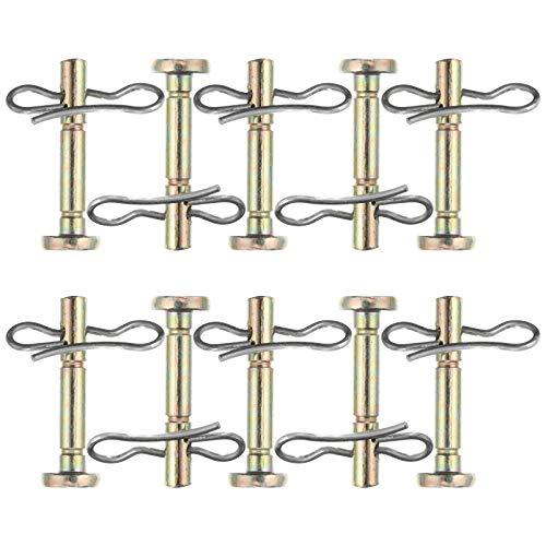 YARNOW Pernos de repuesto y abrazaderas 20 piezas compatibles para 714-04040 738-04124 quitanieves Cub Cadet