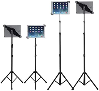 IPad Tripod Stand, Raking Foldable Floor Height Adjustable Tablet Tripod Stand for iPad Mini, iPad Air, iPad 1,2,3,4 and M...