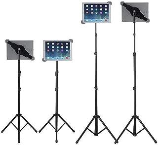 Raking Foldable Floor iPad Tablet Tripod Stand Height Adjustable 25 to 60 Inch Tablet Tripod Mount for iPad Pro 12.9