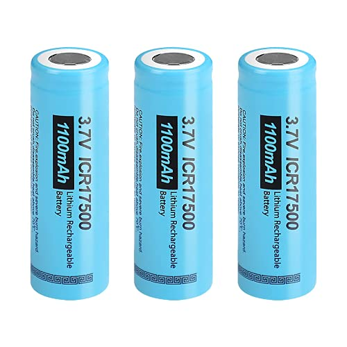 17500 ICR17500 3,7 V 1100 mAh Li-Ion batería Recargable 3 Piezas