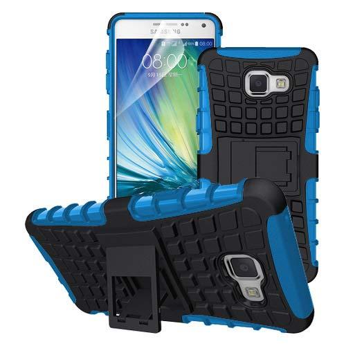 betterfon | Outdoor Handy Tasche Hybrid Case Schutz Hülle Panzer TPU Silikon Hard Cover Bumper für Samsung Galaxy A3 (2016) SM-A310 Blau