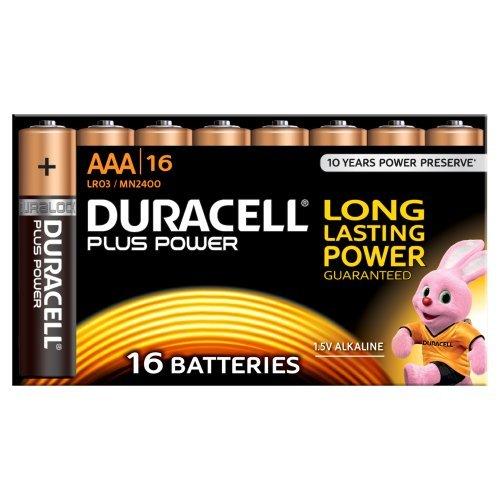 Duracell MN2400B16 Pack de 16 Piles AAA