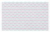 ABAKUHAUS Espina de Pescado Tapete, El Arte Raya Horizontal, Decorativo con Fieltro de Poliéster Estampado Base Antideslizante, 45 cm x 76 cm, Blanco pálido Azul Rosado