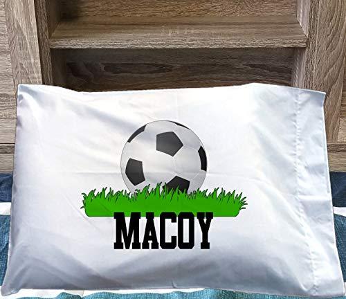 Funda de almohada KidsCUSTOM de fútbol – Funda de almohada de futuro estrella de fútbol – Regalo de cumpleaños decorativa – Funda de almohada para sofá de habitación
