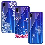 BAOWEI [3 Pack] Xiaomi Redmi Note 7 Case, Ultra Thin
