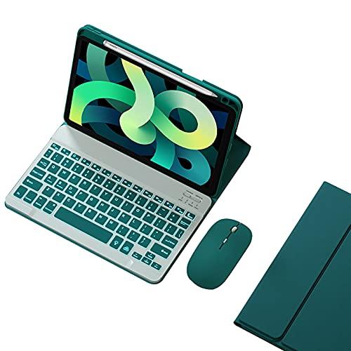 WYZDQ Funda De Teclado para iPad Pro 11 '' 2021, Cubierta Inteligente con Teclado Inalámbrico Retroiluminado, Soporte 2Do De Carga De Lápiz,Dark Green