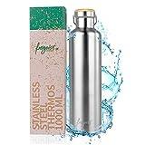 freigeist Thermosflasche 1l Edelstahl | Trinkflasche 1000ml BPA frei| Isolierflasche 1 Liter Edelstahl auslaufsicher