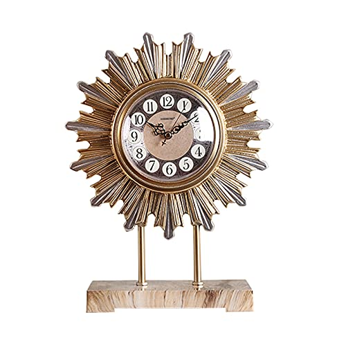 XGJJ Reloj nórdico con soporte para el hogar, sala de estar, estudio, escritorio, TV, armario, decoración, adornos modernos y minimalistas