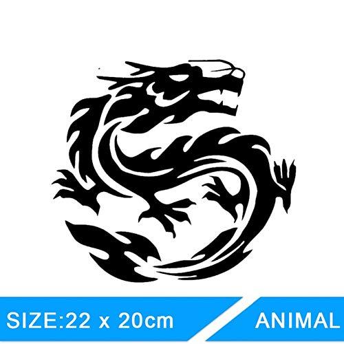Autosticker 22cm x 20cm Dragon Car Stickers Voorruit Decal Die Cut Auto Body Truck Stickers Bumper Window Stickers