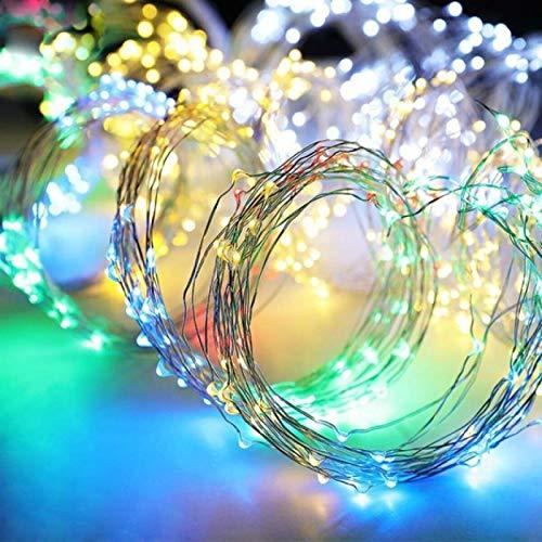 HJCE Luz Solar para Jardín, Led Fairy Gypsophila Tree Waterfall Icicle Led String, Holiday Christmas Party Garland Lámpara Solar Impermeable 5 Cuerdas 100Leds RGB
