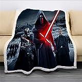 Star Wars The Force Awakens - Manta de forro polar extra suave y cálida manta para sofá para...