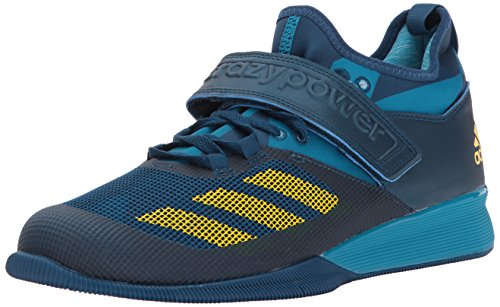 adidas Men's Shoes | Crazy Power Cross-Trainer, Blue Night/Equipment Yellow/Mystery Petrol, (8 M US)