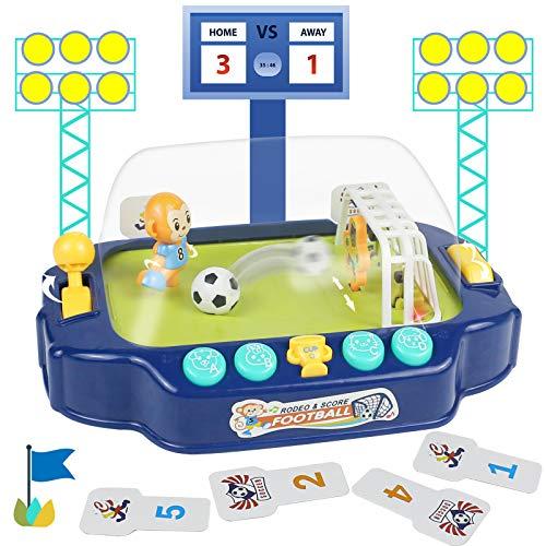 Fajiabao Tischfußball für Kinder - Mini Flipper Kinderspielzeug Fusball Spiel Tischfussball Mathematik Spielzeug Tischkicker Lernspielzeug Geschenk für Jungen Mädchen ab 3 4 5 6 7 Jahren