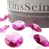 Hochwertige Acryl Diamantkristalle in vielen Farben wie klar (durchsichtig), rot, rosa, weiss, pink, lila, grün, apricot, hellgrün, hellblau, silber, gold und flieder sowie vorgemixt erhältlich.