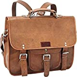 OSD Black Brown Genuine Leather Contractor Briefcase Backpack Laptop Bag Professionals