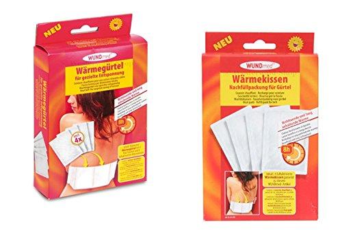 2 Pakete: 1x Wärmegürtel + 1x Nachfüllpack Heizgürtel Nierenwärmer Entspannung