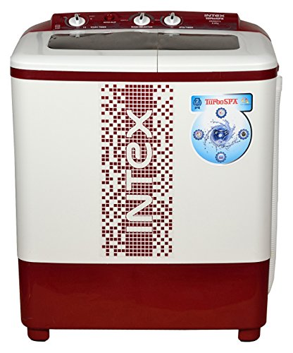Intex 6.2 kg Semi-Automatic Top Loading Washing Machine (WMS62TL, White and Maroon)