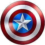 MRMRMR all Metal Scudo di Capitan America Costume America 1: 1 Captain America Shield all Metal 1:1 Movie Edition Avengers Palmare Puntelli Decorazione Modello 47cm