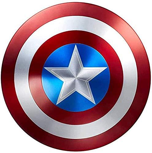 Escudo Capitan America Metal 1: 1 Adulto Apoyos de Película Niños Hierro Forjado CapitáN AméRica Shield Vengadores Disfraz de Metal Shield 47cm 3 Colors