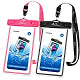 MoKo Waterproof Cell Phone Bag, Underwater Phone Pouch Case Dry Bag with Lanyard