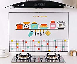 Kitchen self-adhesive oil-proof wall stickers High temperature and smoke-proof waterproof stickers Cartoon oil-proof paper...