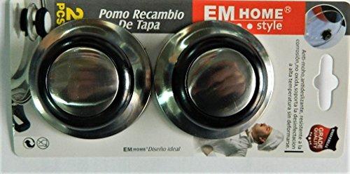 2 x Poignée bouton de couvercle de casserole Cuisine ustensiles en métal