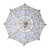 Steellwingsf Paraguas nupcial, paraguas de encaje nupcial, sombrilla para mujer, decoración de boda, color beige L