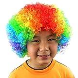 WJSW Divertenti Capelli da Clown Piccole Parrucche Elegante Parrucca per Capelli in Maschera Elastica per Bambino, Uomo Donna Cosplay, Festa, Uso Quotidiano