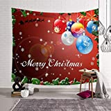 Merry Christmas Wall Hanging Tapestries Wall Blanket Wall Art for Living Room Bedroom Home Decor Bedspread Beach Tapestry 59x51inches