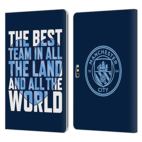Head Case Designs Officially Licensed Manchester City Man City FC Best Team Graphics Leather Book Wallet Case Cover Compatible with Microsoft Surface Pro 4/5/6