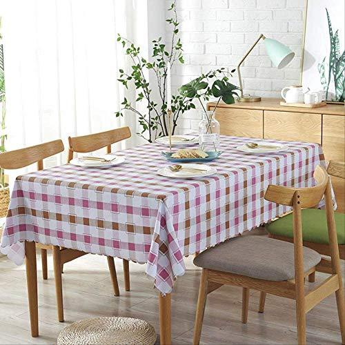 Jassen rooster patroon tafelkleed/waterdicht stofdicht tafelkleed 90x135 cm