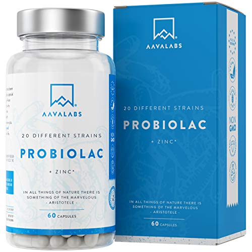 Fermenti Lattici Probiotici [ 50 Miliardi ] - 60 Capsule - 20 Formule ad Ampio Spettro di Ceppi Prebiotici - tra cui Lactobacillus Acidophilus e Bifidobacterium - Supporta il Sistema Immunitario