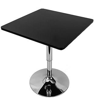 WUPYI2018 Table de Bar carrée Table de Bistro,60 * 60cm,Hauteur réglable 70-90cm,Noir