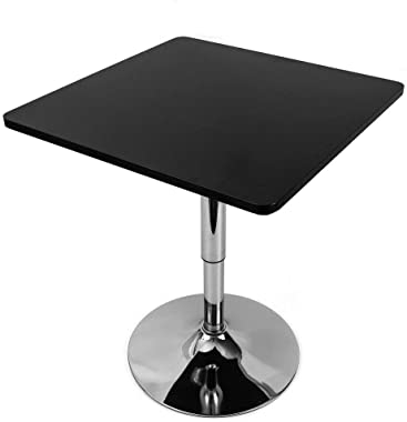 RibasuBB Pub and Bar Table Adjustable Height Modern Style Round Top Standing Circular Cocktail Table Suitable for Living Room, Kitchen, Outdoor& Indoor Bistro Table