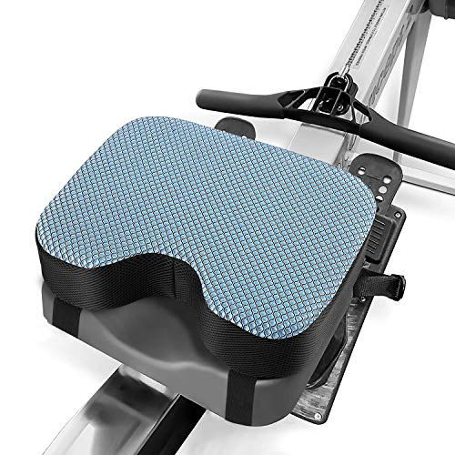 Kohree Rowing Machine Seat Cushion for Concept 2, Model D & E, Indoor Water Rower Machine Seat Pad with Thicker Memory Foam, Washable Cover and Straps for Exercise Recumbent Stationary Bike