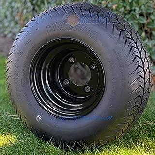 Wanda 18X8.50-8 STX OEM Golf Cart Tires and Black Steel Golf Cart Wheels Combo - Set of 4