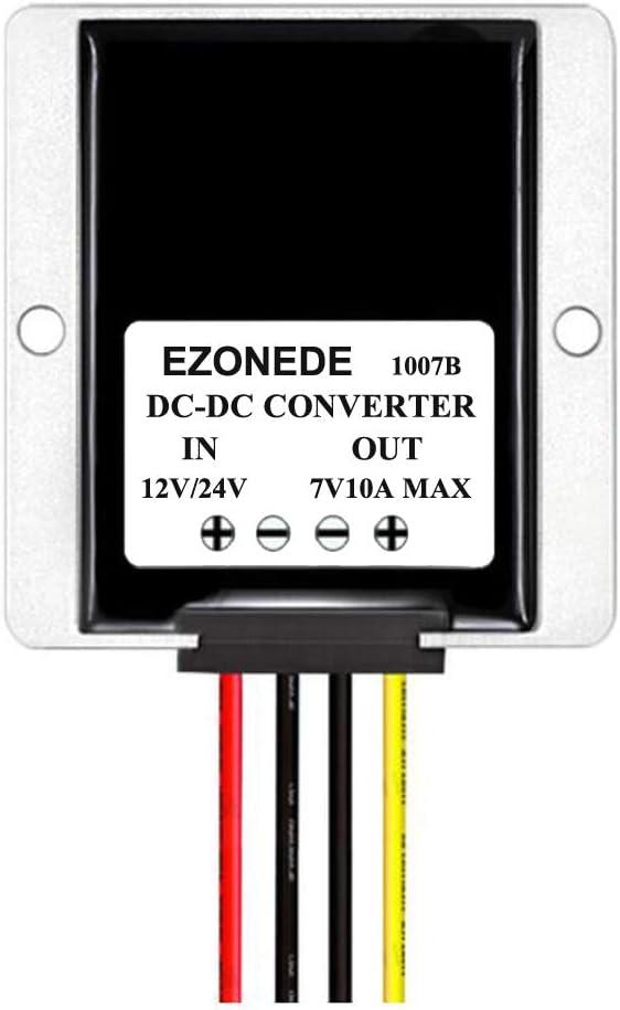 Stayhome 1PCS DC-DC Converter 12V 24V to 7V 10A 70W Step Down Buck Module Power Supply Transformer Voltage Regulator for Car Truck LED Camera
