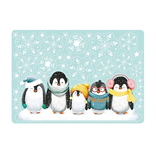 Wandtattoo Loft Fensterbild Weihnachten Pinguine wiederverwendbar Fensterdeko Kinderzimmer Fensteraufkleber beidseitig/DIN A4 Bogen