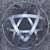 Genesa Crystal Alluminio Naturale lucidato, 32cm diametro con fasce larghe 15mm e fissate con rivetti in alluminio.