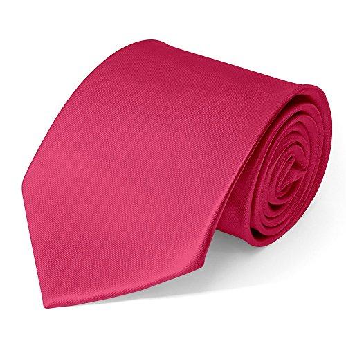 SoulCats Klassische Krawatte inkl. Anleitung breit viele Farben Satin Schlips Herren, Farbe:pink