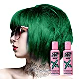 2x Crazy Color Semi-Permanente Haarfarbe 100ml (Emerald Green - Smaragdgrün)