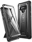 YOUMAKER Cover Galaxy Samsung Note 9, Custodia Rigida a 360 gradi Protezione Schermo Con Integrata Kickstand Rugged Case per Samsung Galaxy S9 2018, Nero