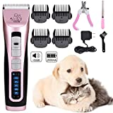 Dog Clipper - Pet Grooming Clipper 3 Speed Pet...