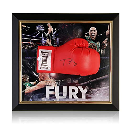 Exclusive Memorabilia Boxhandschuh signiert von Tyson Fury. Gerahmt