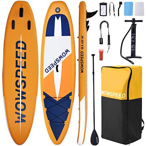 CosHall SUP Gonfiabile, Tavola Gonfiabile da Stand Up Paddle, 320×84×15cm Kayak Gonfiabile, Fino a 130kg capacità di carico, Tutti Gli Accessori, per Tutti Livelli (B)