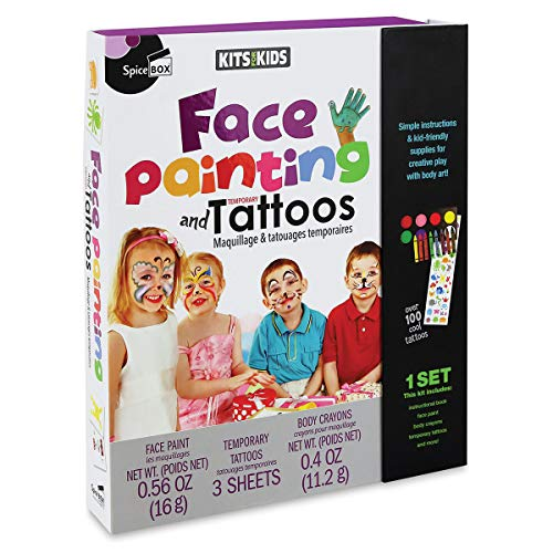 Spice Box Kits 4 Kids Face Painting & Temp Tattoos