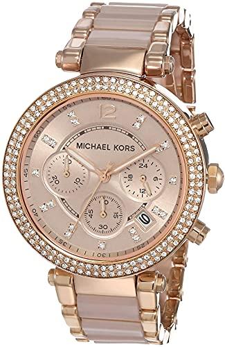 Michael Kors Orologio Cronografo Quarzo Donna con Cinturino in Acciaio Inossidabile MK5896