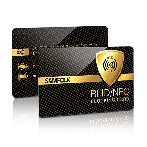 12x RFID Blocking Custodia protettiva per carta di credito, documento d'identità, carta bancomat, passaporto, carta bancaria, tessera sanitaria, ecc. - Protezione al 100% grazie al blocco RFID & NFC