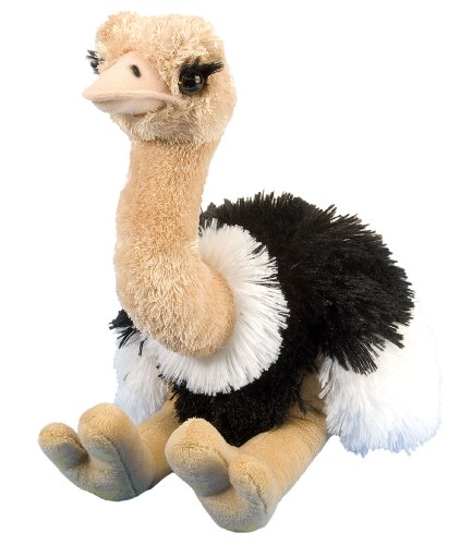 Wild Republic-12251 Peluche Avestruz Cuddlekins, Color Beige