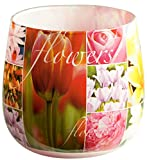 Duftglas Duftkerze mit Motiv 'Flowers' Duft: Blumen
